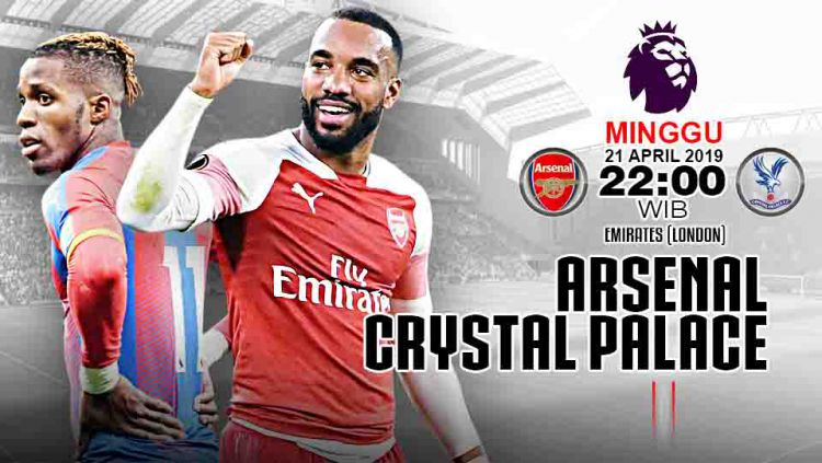 ARSENAL VS CRYSTAL PALACE DI LIGA PREMIER